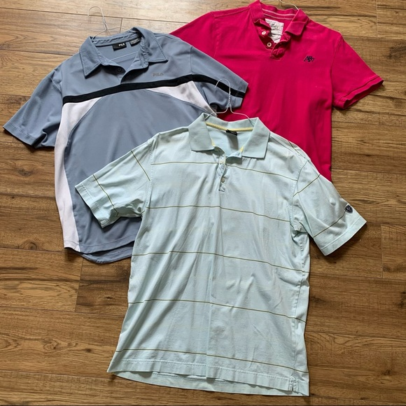 Bundle 3 Men's size large polo shirts